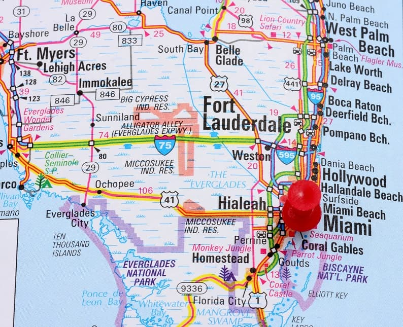 Greater Miami Map