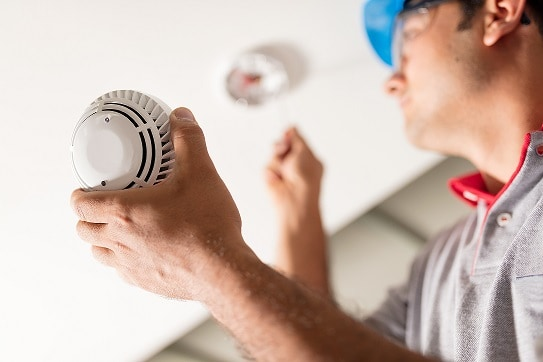 Smoke detector replacement service
